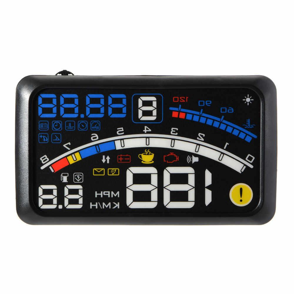 امتياز GPS Excelvan 5.5 بوصة العالمي OBD2 سيارة GPS هود رئيس متابعة العرض السرعة الزائدة تحذير نظام لجميع مركبة H0304