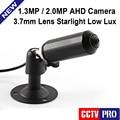 Mini Bullet HD 1.3MP AHD Cámara de 2MP Seguridad Impermeable Al Aire Libre bajo Lux Día y Noche Color de Imagen CCTV Cámara Starlight 960 P 1080 P