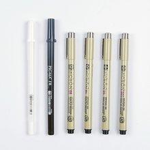 Sakura 6 Pcs Pigma Micron Fine Line Pen High Light and Soft Head Manga Drawing Basic Set from Japan