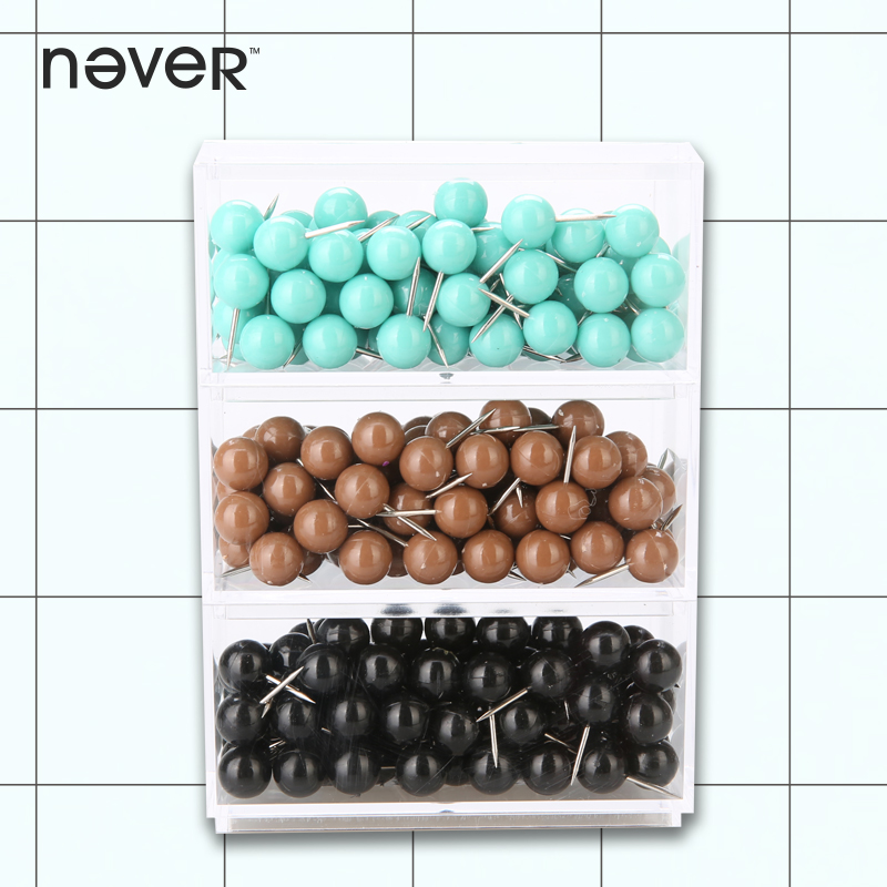 never colored thumbtack nail plastic drawing map pins office accessories for wood cork board painting photo wall gift stationery Never Color Push Pins Thumbtack Decorative Metal Thumb Tacks For Wooden Cork Board Drawing Map Diy Pushpin Office Accessories