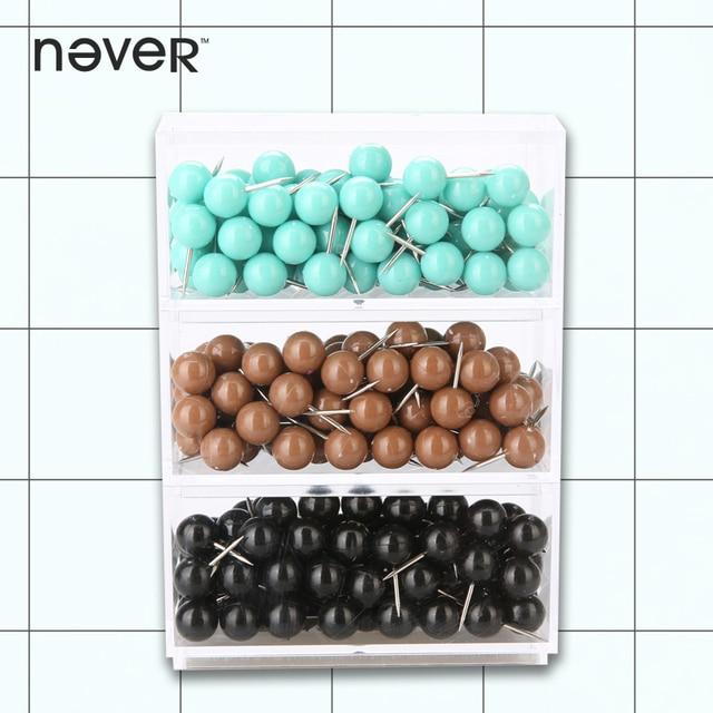 Never Color Push Pins Thumbtack Decorative Metal Thumb Tacks For