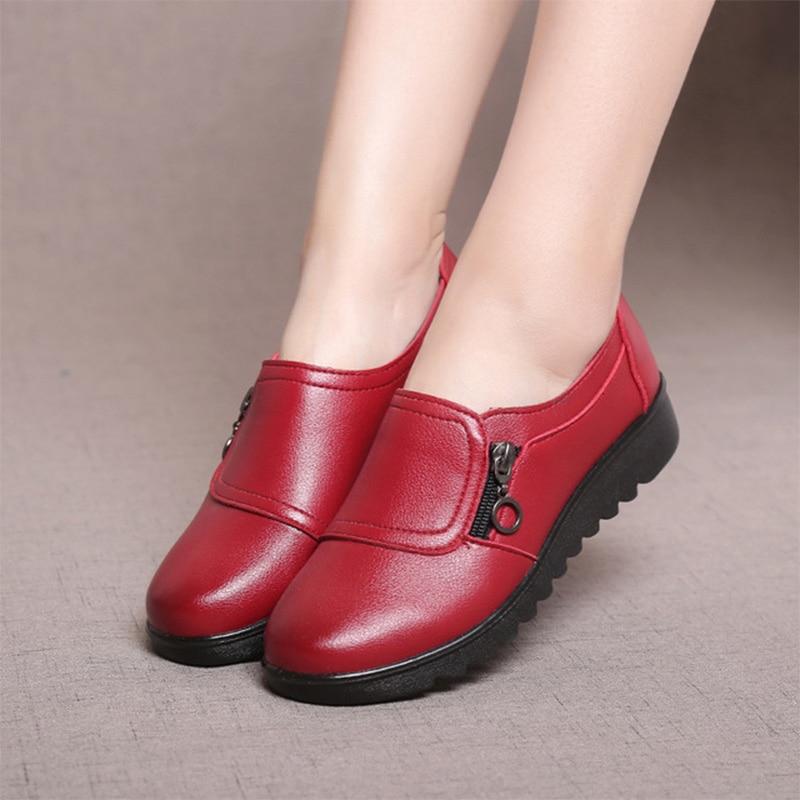 Patchwork Mère Mode Chaussures Dames Mocassins Zip Casual Doux O8n0XPkw