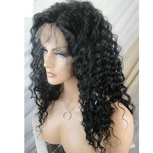 LUFFYHAIR 5*4,5 шелковая основа полный шнурок кудрявые человеческие волосы парик бразильские волосы remy Предварительно выщипанные волосы с детскими волосами кружевные парики