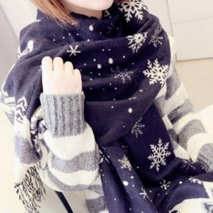 LOWEST PRICE Hot Sale cashmere Christmas scarves snowflake 70*190cm big shawl winter warm thick womens snow warm shawl