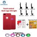 PHONEFIX 16 видов цветов сенсорное управление светодиодный логотип для iPhone 6 6Plus 6S 6S Plus 7 7 Plus светящийся светодиодный логотип Радужный Свет