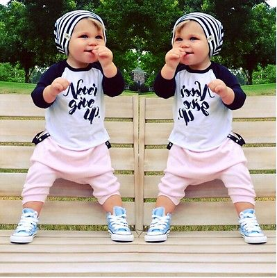Newest Toddler Kids Infant Boys Girls Long Sleeve Cotton Tops T-shirt Clothes