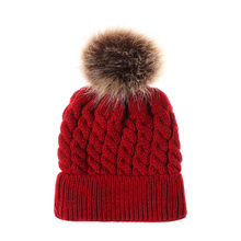 Cute Newborn Knitted Hat Autumn and Winter Warm round head Cap protection Ear Beanie Hat Baby hat children Hat new men s hat in autumn and winter with warm cashmere set head cap hat riding ear muff knitted hat korean tide
