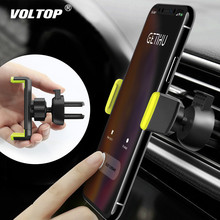 Support pour téléphone de voiture pour IPhone X XS Max 8 7 6 Samsung 360 degrés Support Mobile évent Support pour voiture Support de téléphone dans la voiture