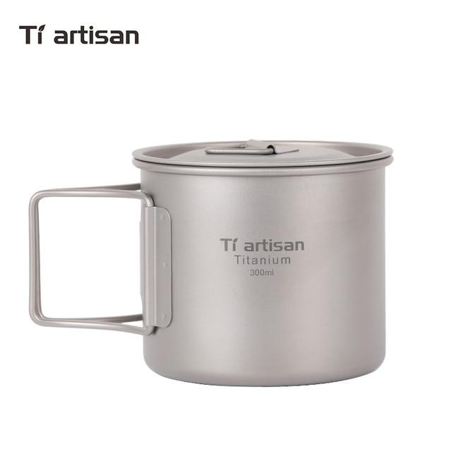 Titanium Outdoor pure titanium cup metal water cup drinking water with 300ml mug coffee mug.