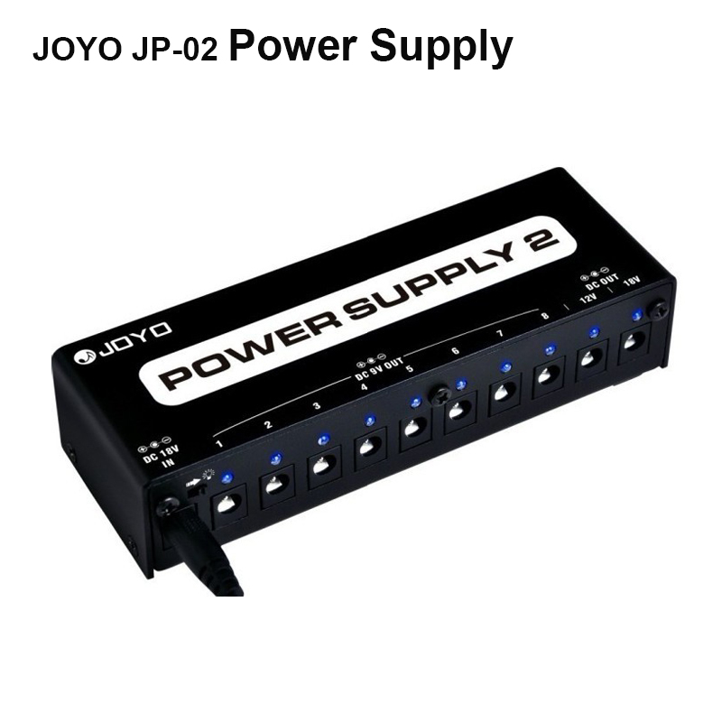 JOYO JP-02 POWER SUPPLY 2 10 Isolated Output DC9V/12V/18V Pedals for Guitar Pedal Boss, MXR, Mo oer, DIGITECH free shipping digitech ps0913b power supply