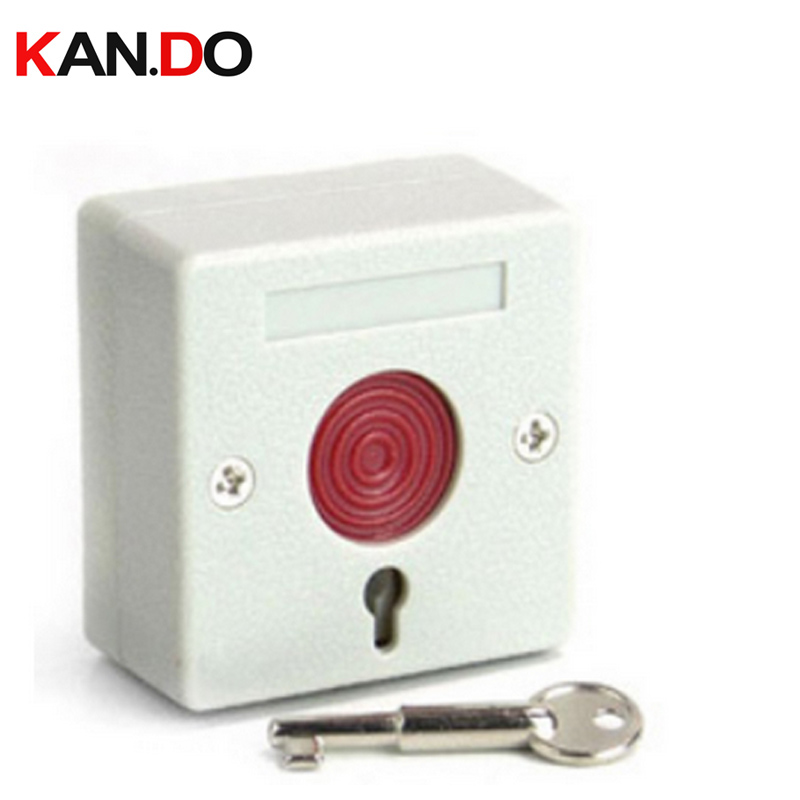 PB-68 Emergency Button Switch Key Automatic Reset Wired Manual Alarm Button Hand Alarm Emergency Switch