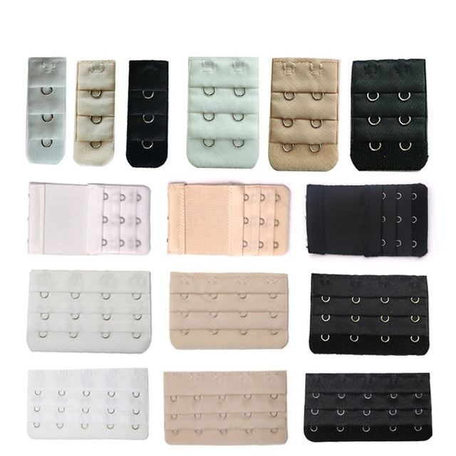 e8ee1b851107b 5pc Bra Extenders Strap Buckle Extension 3 Rows1 2 3 4 5 Hooks Clasp Straps  Bra Strap Extender Sewing Tool Intimates Accessories