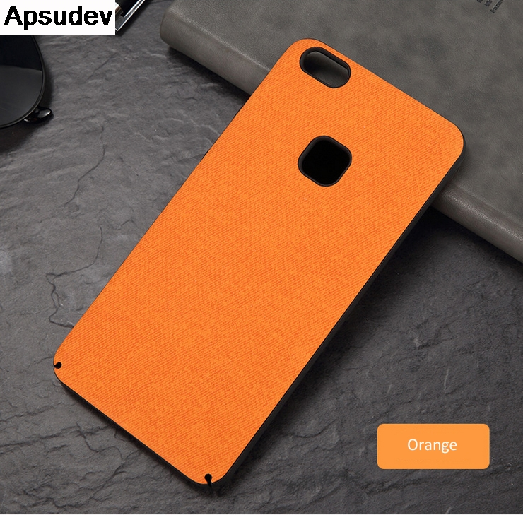 Apsudev High Quality Denim Business Phone Cases For Huawei P10 lite Protective Hard PC Shell Back Cover