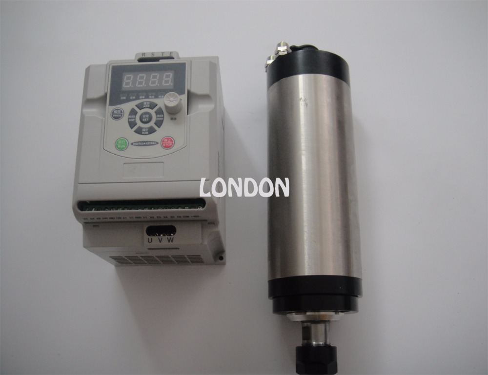 2.2KW VFD onduleur + ER20 2.2KW refroidissement par eau CNC broche de fraisage 24000 tr/min, broche 2,2 KW