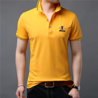 Brand New Fashion Men Polo Shirts Summer Luxury bees embroidery Breathable Camisa Masculina Soft Cotton solid Polo Men