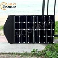 Boguang 60W solar panel charger kit module black folding bags 2 panels sunpower cell high efficiency flexible portable