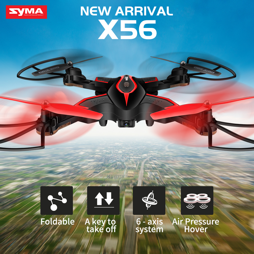 SYMA X56 Foldable Drone 2.4G 4CH 6-axis RC Helicopter Quadrocopter Dron without Camera Remote Control Quadcopter RC Toy Gift syma x56 rc drone 4ch remote control helicopter foldable quadcopter 2 4g hover without camera real time sharing headless toys
