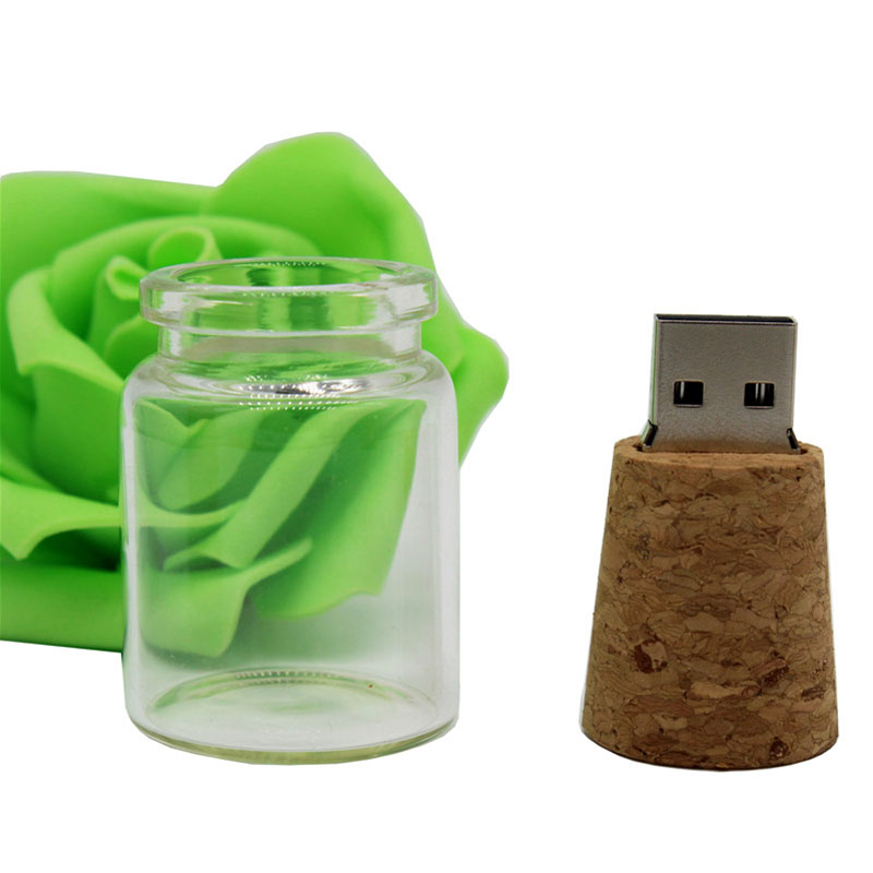 TEXT ME New Style Drifting Bottle Usb+box  64GB Usb Flash Drive Pen Drive 4GB 8GB 16GB 32GB Usb2.0 Pendrive Ceative Gift