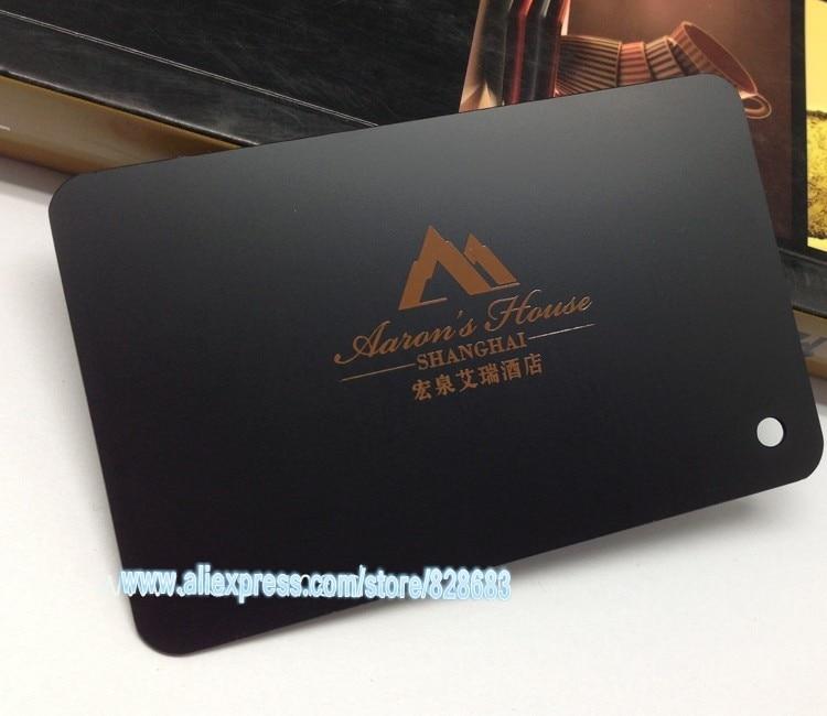 80X50mm 100pcs Black Custom metal business card design template of metal cards for free