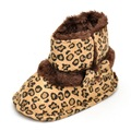 Hot Selling Estamico New Style Baby Girl Snow Boots Bowknot Leopard Cotton Soft Bottom Home Winter Warm Infant Boots