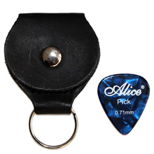 1 Pcs Guitar Picks Holder Black Key Chain 4 Pcs Guitar Picks Guitar Accessories