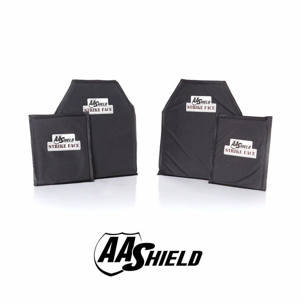 AA Shield Bullet Proof Soft Armor Panel Inserts Plate Aramid Core Self Defense Supply NIJ Lvl IIIA & HG2 10X12#2(2) 6X8(2) Kit