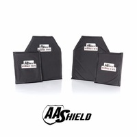 AA Shield Bullet Proof Soft Armor Panel Inserts Plate Aramid Core Self Defense Supply NIJ Lvl IIIA & HG2 10X12#2(2) 6X8(2) Kit