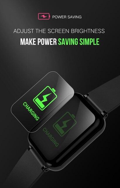 B57 smart watch waterproof heart rate monitor blood pressure  sport Women smartwatch women wearable watch men smart clock PK Q9 4