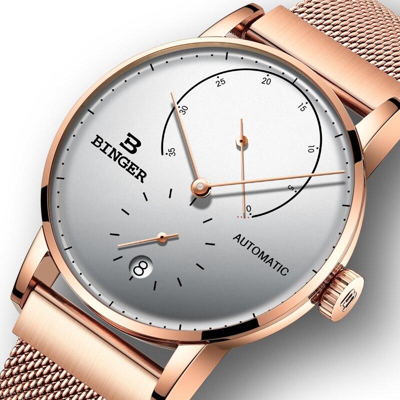 Switzerland BINGER Men Watch Luxury Brand Automatic Mechanical Mens Watches Sapphire Male Japan Movement Reloj Hombre B-1187-21 цена