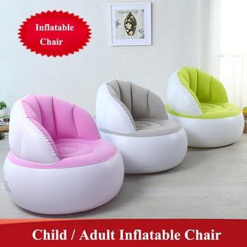 Cute Folding Flocking Inflatable Sofa