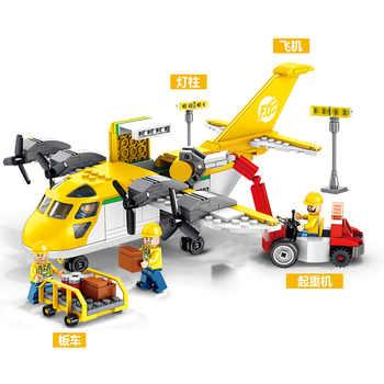 358pcs Children\'s building blocks toy Compatible Legoingly city Cargo transportation aircraft figures Bricks birthday gifts