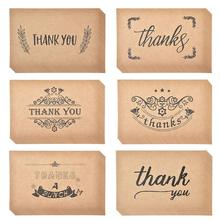 Buy bulk christmas cards and get free shipping on aliexpress 36pcs thank you cards notes kraft paper bulk thank u greeting card set for wedding graduation m4hsunfo