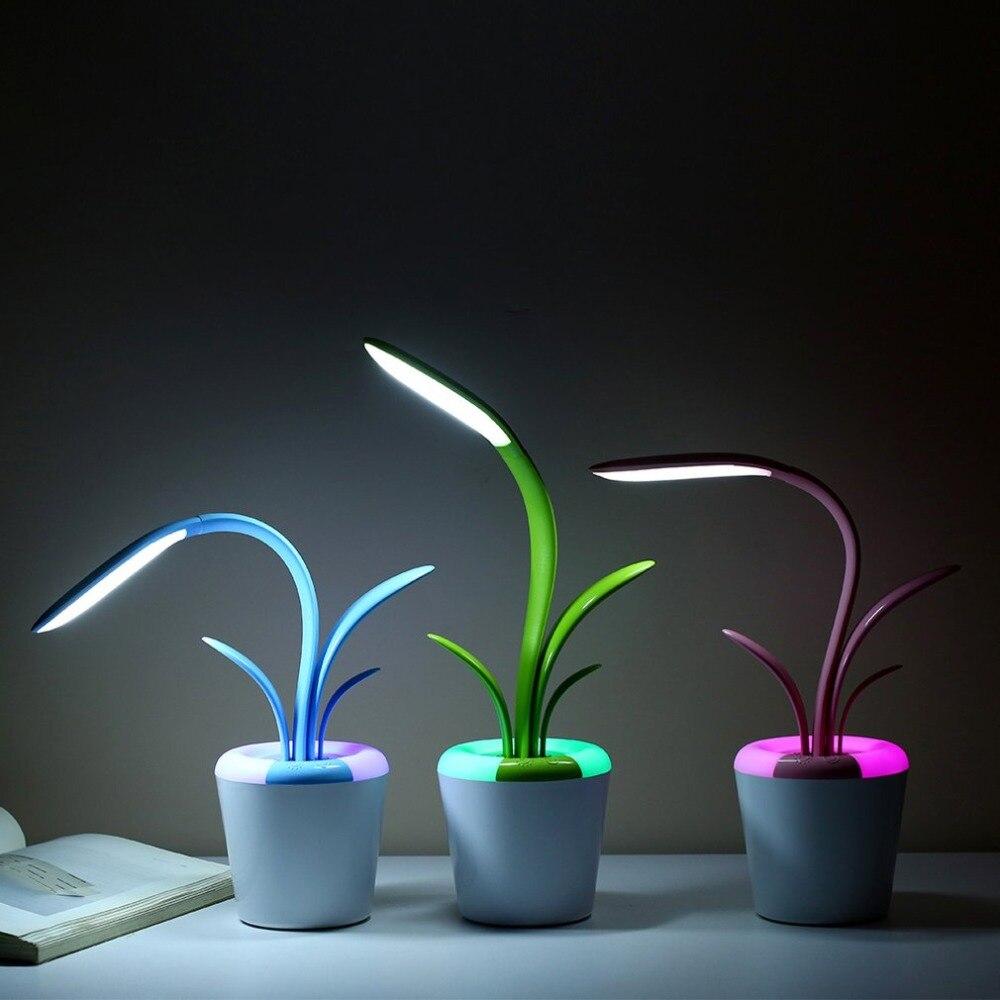 USB LED Reading Light Table Lamp Eye Care Desk Lamp Three Brightness Level Flexible Arm Light For Studying Working Bedroom Lamp
