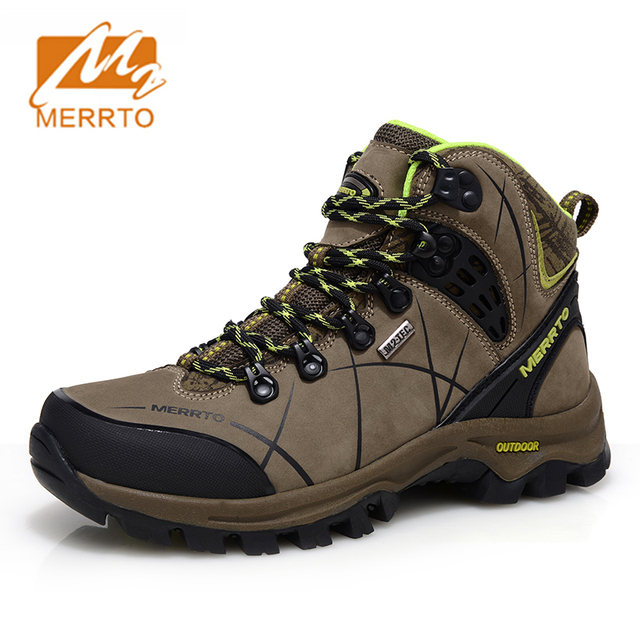 2017 Merrto Women Waterproof Hiking Shoes Outdoor Hiking Boots For Women Breathable Genuine Leather Climbing Boots For Women