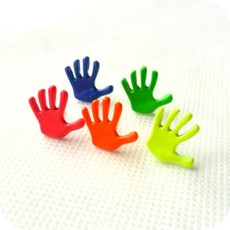 fashion super beautiful fluorescent color candy color cartoon Little hands earrings wholesale crystal shop free shipping