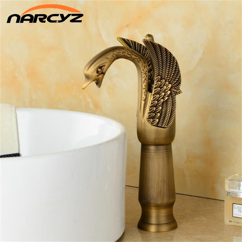 Basin Faucets New High Swan Faucet Arch Design Luxury Wash Mixer Taps Brass Hot And Cold Taps Gold Plated Single Hole Tap XT950 pastoralism and agriculture pennar basin india