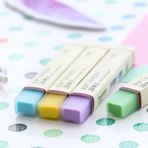 Image 3 - 30 sztuk/partia proste kolor miękkie gumki do ołówka 2B gumka do mazania dla dzieci prezent papiernicze artykuły biurowe narzędzia szkolne borracha F887
