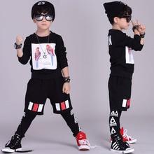 Мода Весна детская одежда набор уличная Костюмы Попугай печати дети спортивные костюмы Хип-Хоп гарем брюки и футболка
