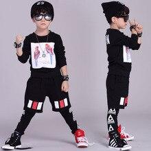 Fashion Spring children's clothing set streetwear Costumes Parrot printing kids sport suits Hip Hop harem pants & sweatshirt