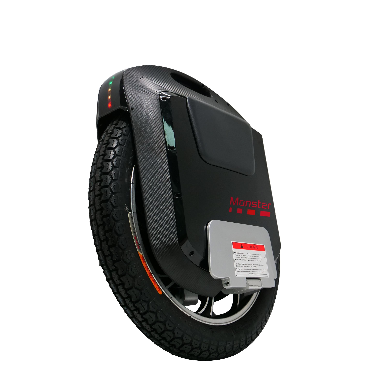 2019 nouveau Gotway Monster V3 monocycle électrique 84 V/2400WH 2500W moteur, noir de carbone Bluetooth haut-parleur 22 pouces monowheel 65 km/h +