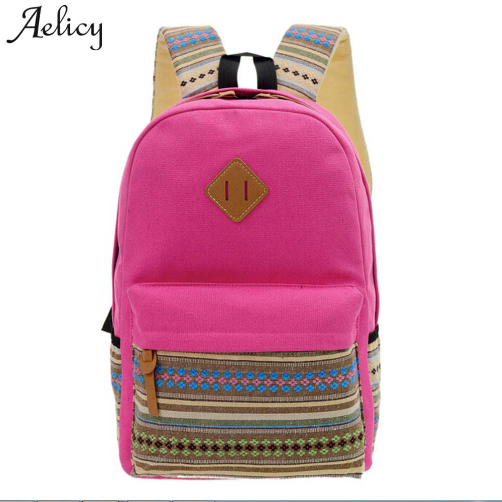 Aelicy Men Women Canvas Backpacks Rucksacks Student School Bags For Girl boy Casual Travel Bags Canvas Backpack Teenage Girl