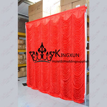 Red Color 3M*3M Ice Silk Wedding Backdrop DecorationBackground For Wedding