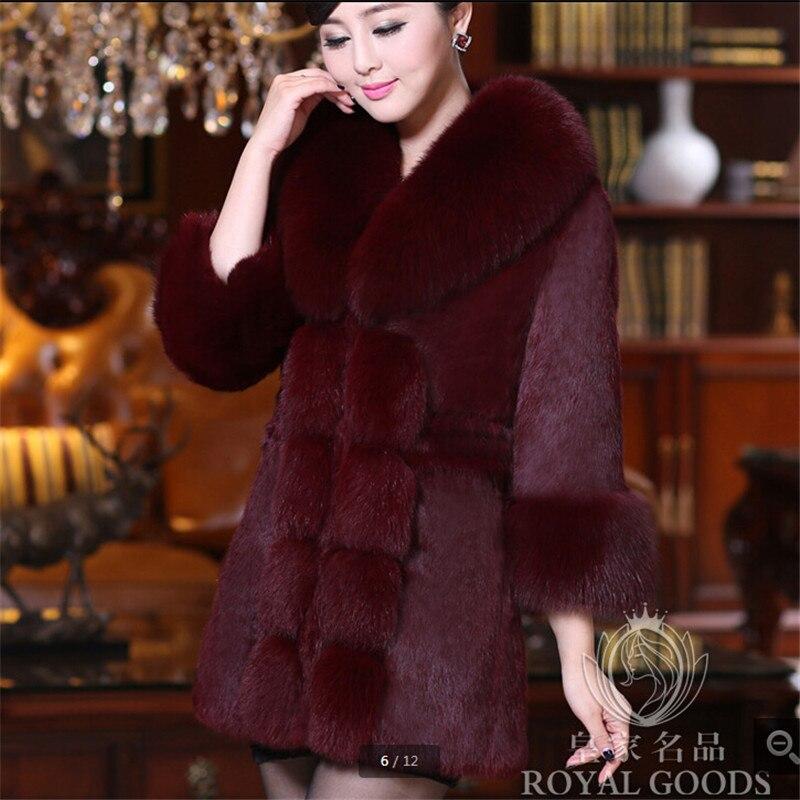 Gamme De Femmes Vêtements Chantiers Laine Imitation Red Hiver D'agneau Bn082 Banquet Fourrure Manteau Féminine D'hiver wine Mode White Haut black Grands dqF1wxd