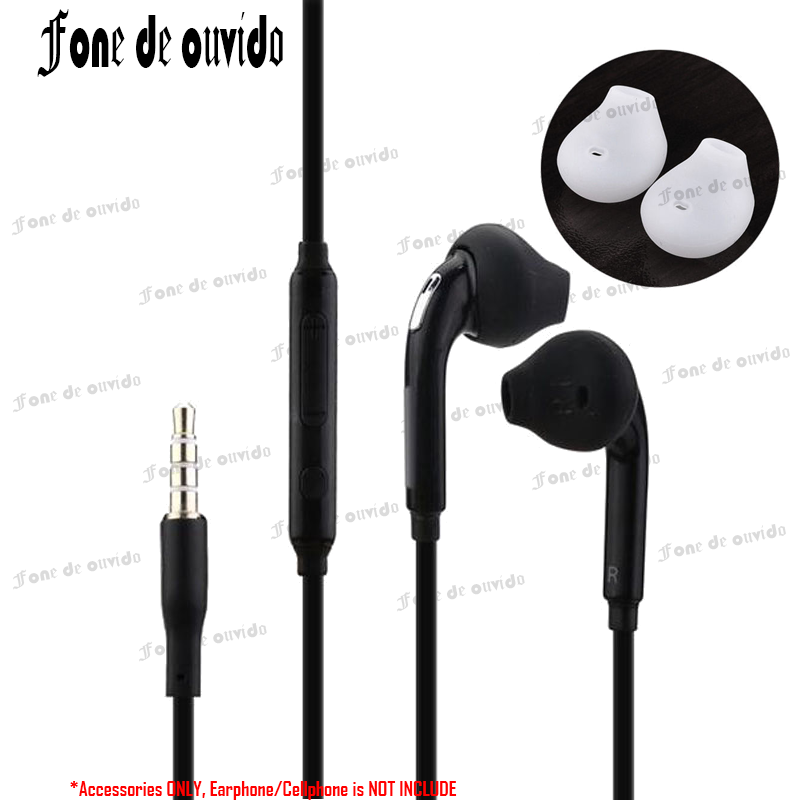 For Samsung Galaxy S7 S6 Edge S5/4 Note 5 4 3 Handfree in-Ear Earbuds 3.5mm In-ear Wired Stereo Headset Earphone Microphone-/