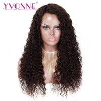 YVONNE итальянские вьющиеся человеческие волосы парики девственные бразильские волосы на фронте шнурка с волосами младенца естественного цв