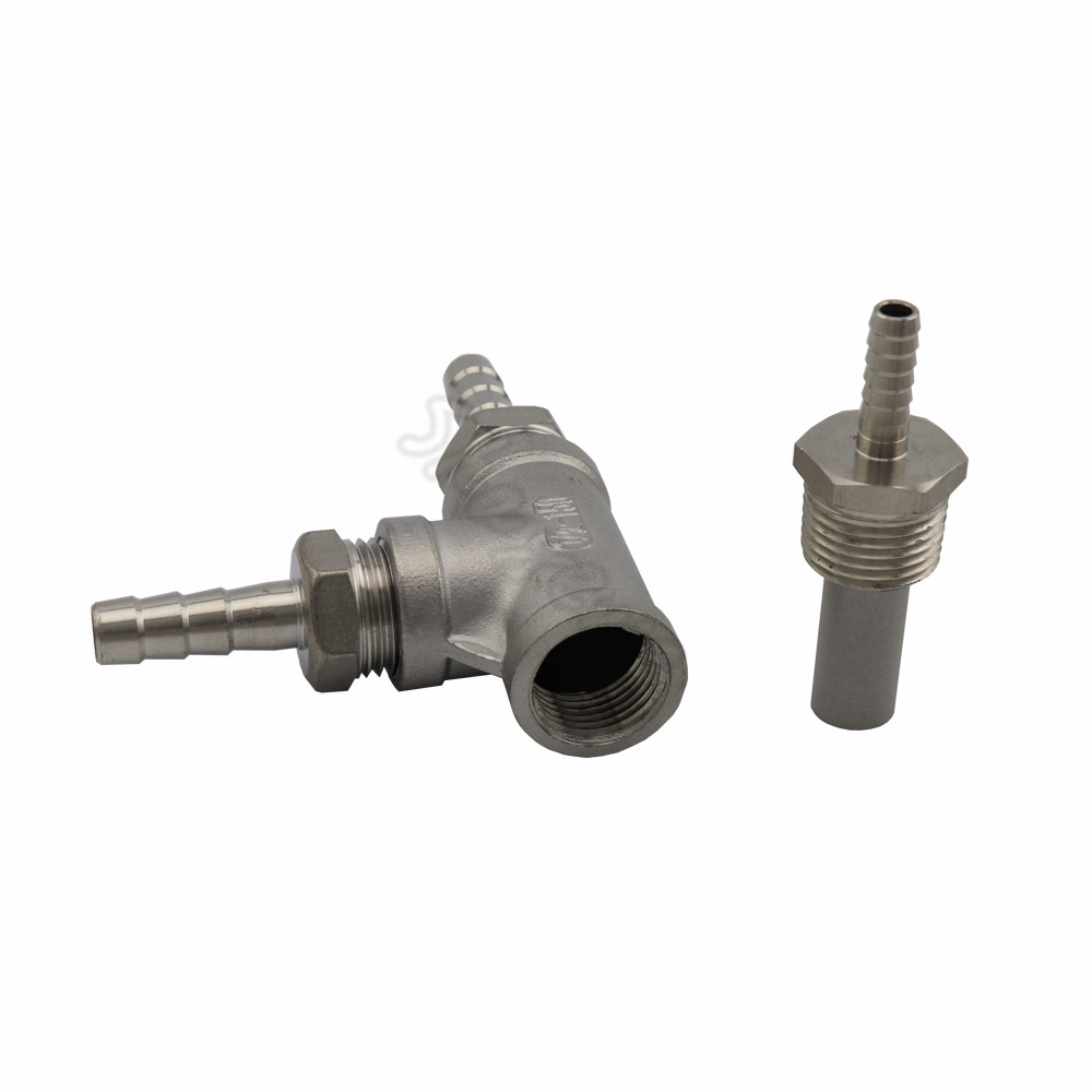 Homebrew Inline Brewing Stainless steel 2 Micron - 12 MPT AerationOxygenation Diffusion Stone (2)