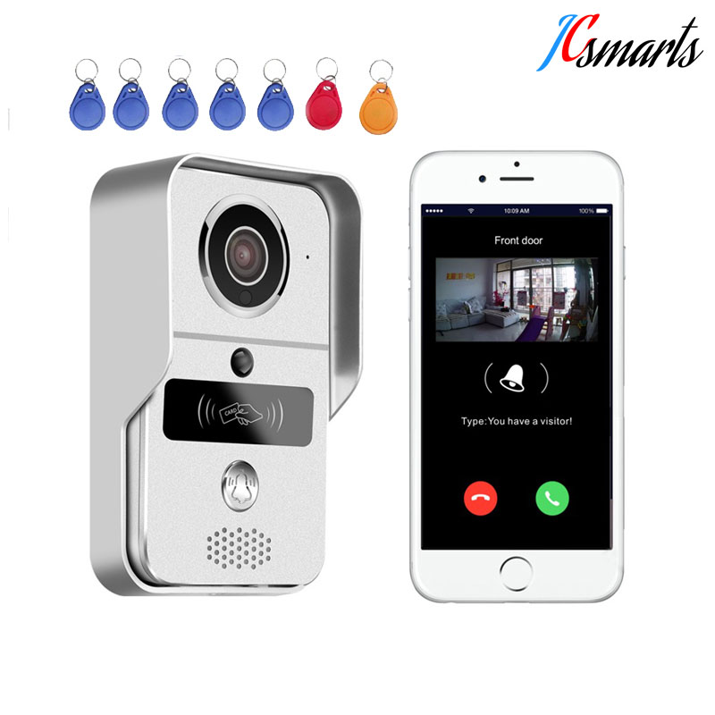все цены на New wireless video intercom wifi video door phone porteiro eletronico with RFID reader for door access security онлайн