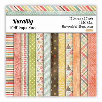 Rurality Scrapbooking paper pack of 24 sheets handmade craft paper craft Background pad 89 1