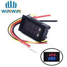 """Цифровой вольтметр Амперметр постоянного тока 0-100 в 10 А, двойной дисплей, детектор напряжения, панель измерителя тока, ампер, вольтметр 0,2"""", красный, синий светодиодный"""