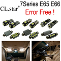 20 unid X Error Bombilla LED libre Kit de Luz Interior para BMW 7 series E65 E66 (2002-2008)